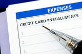 List the credit card installments and other expenses
