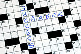 Fill the words Success Career in the cross word puzzle