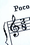 Treble clef at the beginning of the music sheet