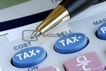 Calculate the tax and the cost with a calculator