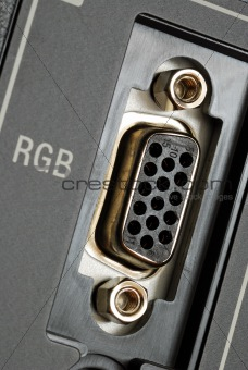 Close up view of the RGB video panel