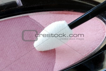 Close up view of the eye shadow