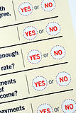 Select Yes or No from a questionnaire