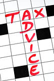 Write the words Tax Advice in the crossword puzzle