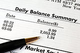 Carefully check the monthly bank account statement