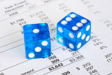 Dice concepts of the risk and reward in business