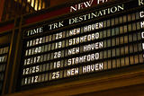 train schedule board