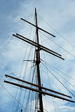 A vintage tall ship resting at the pier
