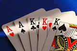 Poker cards concepts of gambling or taking a risk