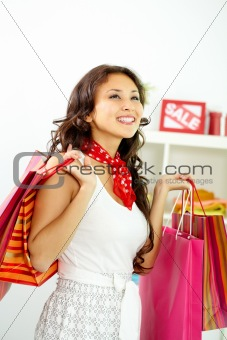 Girl shopping
