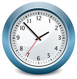 vector blue clock