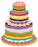 big and colorful vector cake