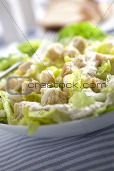 Caesar salad close up vertical