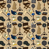 cartoon movie element seamless pattern