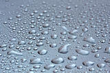 Water droplets on mettallic surface