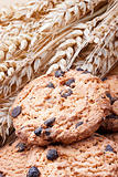 cookies with chocolate chips and barley