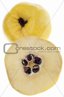 Sliced Quince Fruit