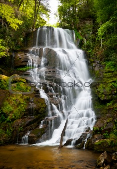 Blue Ridge Mountains Soothing Waterfall Landscape Western North Carolina NC