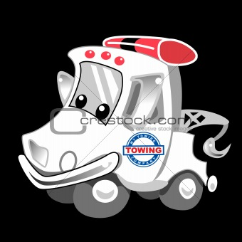 Tow Truck Cartoon Character