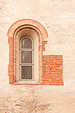 the antique window in stone wall