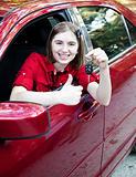 Teen Driver - Thumbs Up