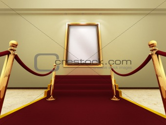 Golden picture frame in a Grand Gallery