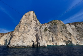 mountain slope in Zakynthos island, Greece