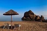 sun bed on the beach