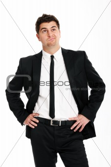 Undecided businessman