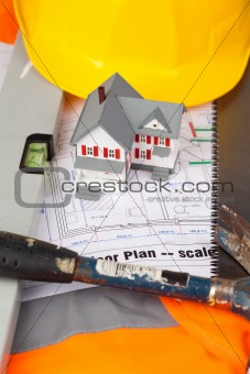 Tools and miniature house