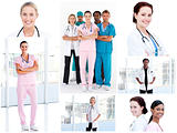 Collage of young doctors
