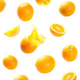 falling and exploding ripe oranges