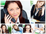 Collage of several business women