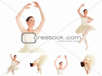 Collage of a ballet dancer