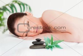 Beautiful female in a spa