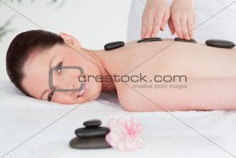 Beautiful woman having a LaStone therapy