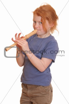Girl playing flute