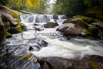 Wild Chattooga River Headwaters Geology Western NC Flowing Waterfall Nature