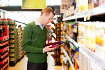 Male Shopping Comparing Products