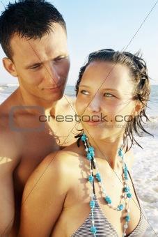 pair on sea coast