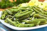 Cooked Green Beans with Onion and Parsley