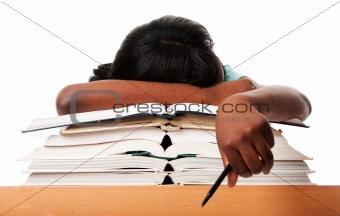 Tired of homework studying