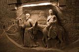 Salt decorations in Wieliczka Salt Mine