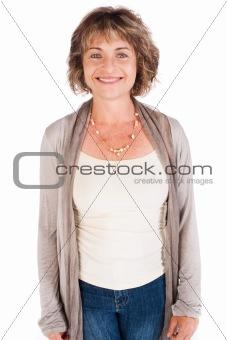 Portrait of smiling senior woman, facing camera