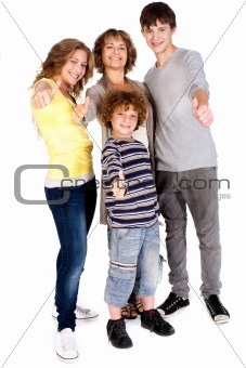 Thumbs-up family