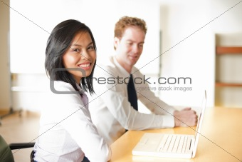 Beautiful Asian Business Woman Meeting