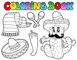 Coloring book with Mexican theme 2