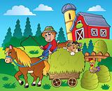 Country scene with red barn 9