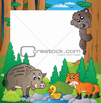Frame with forest theme 2