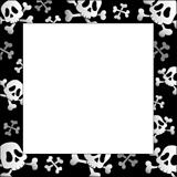 Frame with pirate skulls and bones